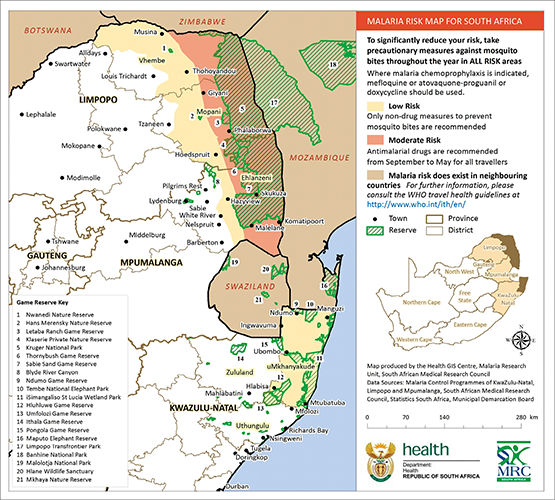 Re defining the extent of malaria transmission in South Africa